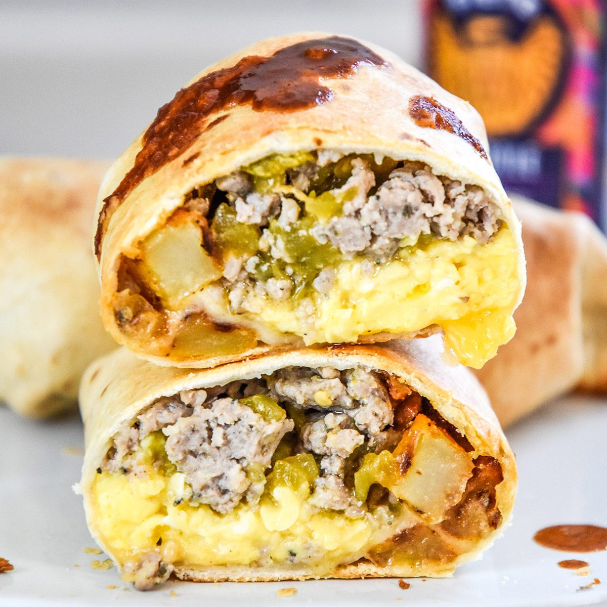 crispy-air-fryer-breakfast-burritos-stacked