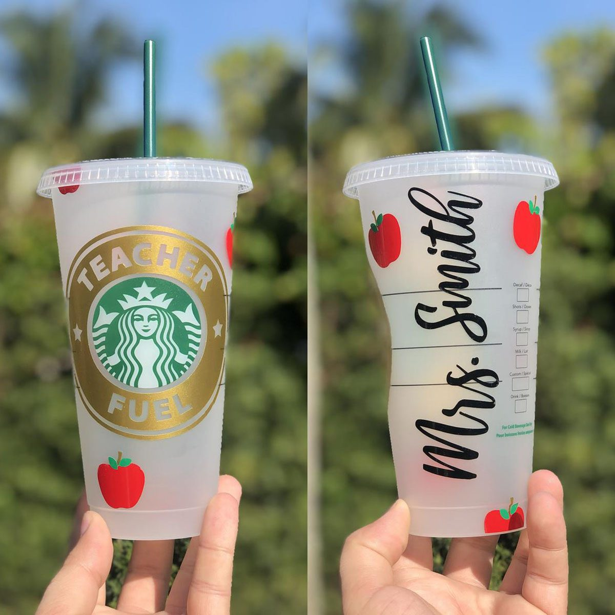 Teacher Gift Customized Reusable Starbucks Venti Cup! Teacher appreciation