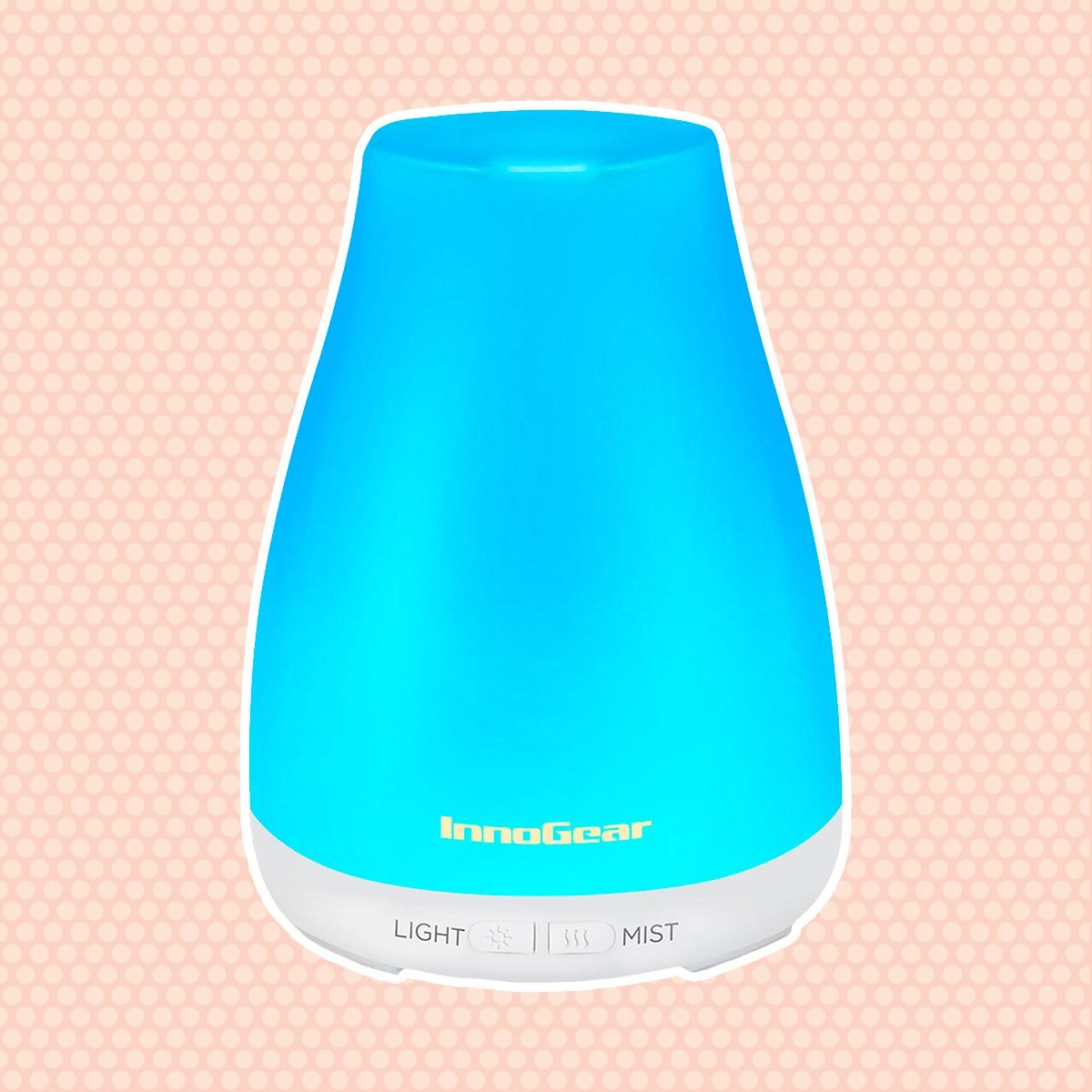 InnoGear Essential Oil Diffuser, Upgraded Diffusers for Essential Oils Aromatherapy Diffuser Cool Mist Humidifier with 7 Colors Lights 2 Mist Mode Waterless Auto off for Home Office Baby, Basic White