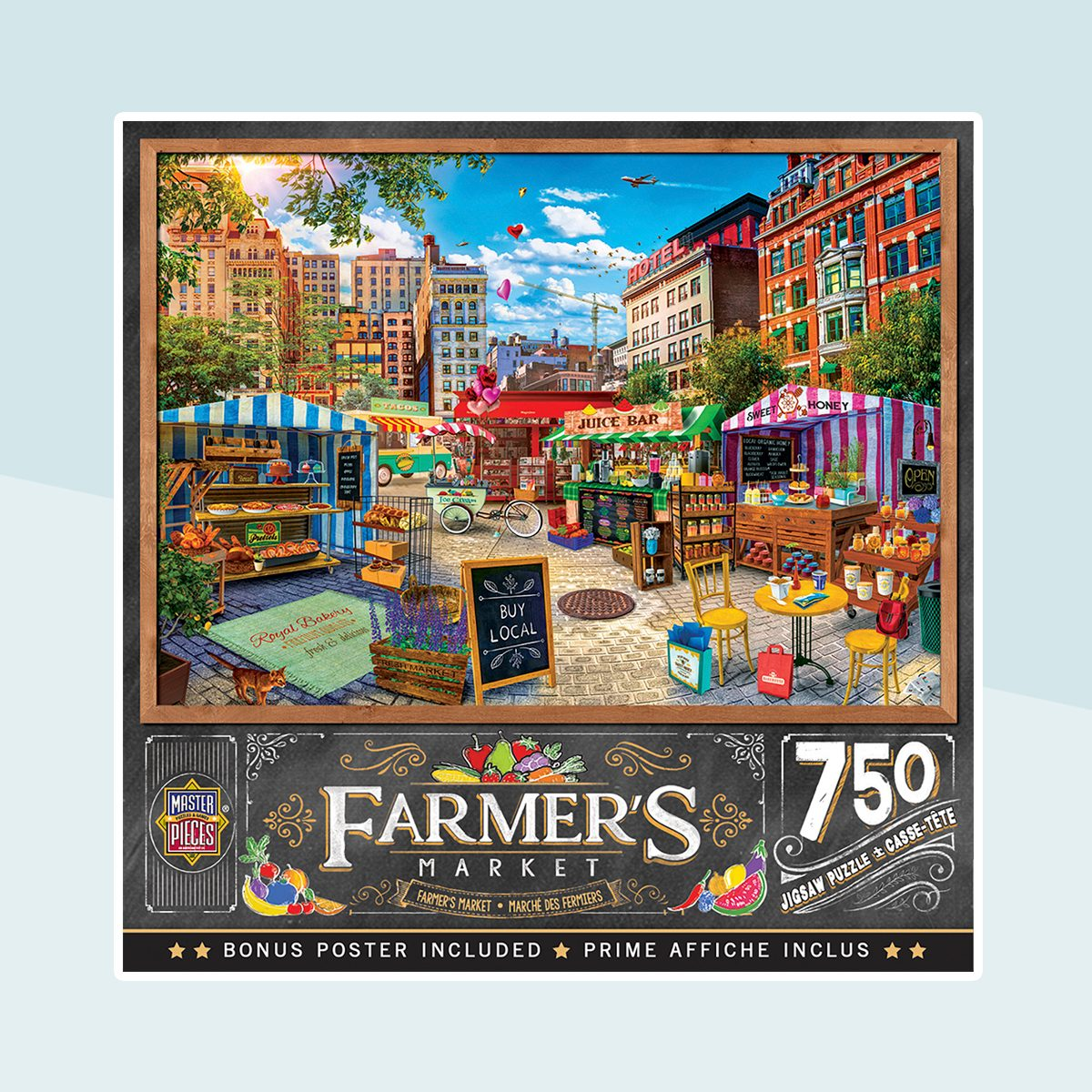MasterPieces - Farmer's Market - Buy Local Honey - 750 Piece Jigsaw Puzzle