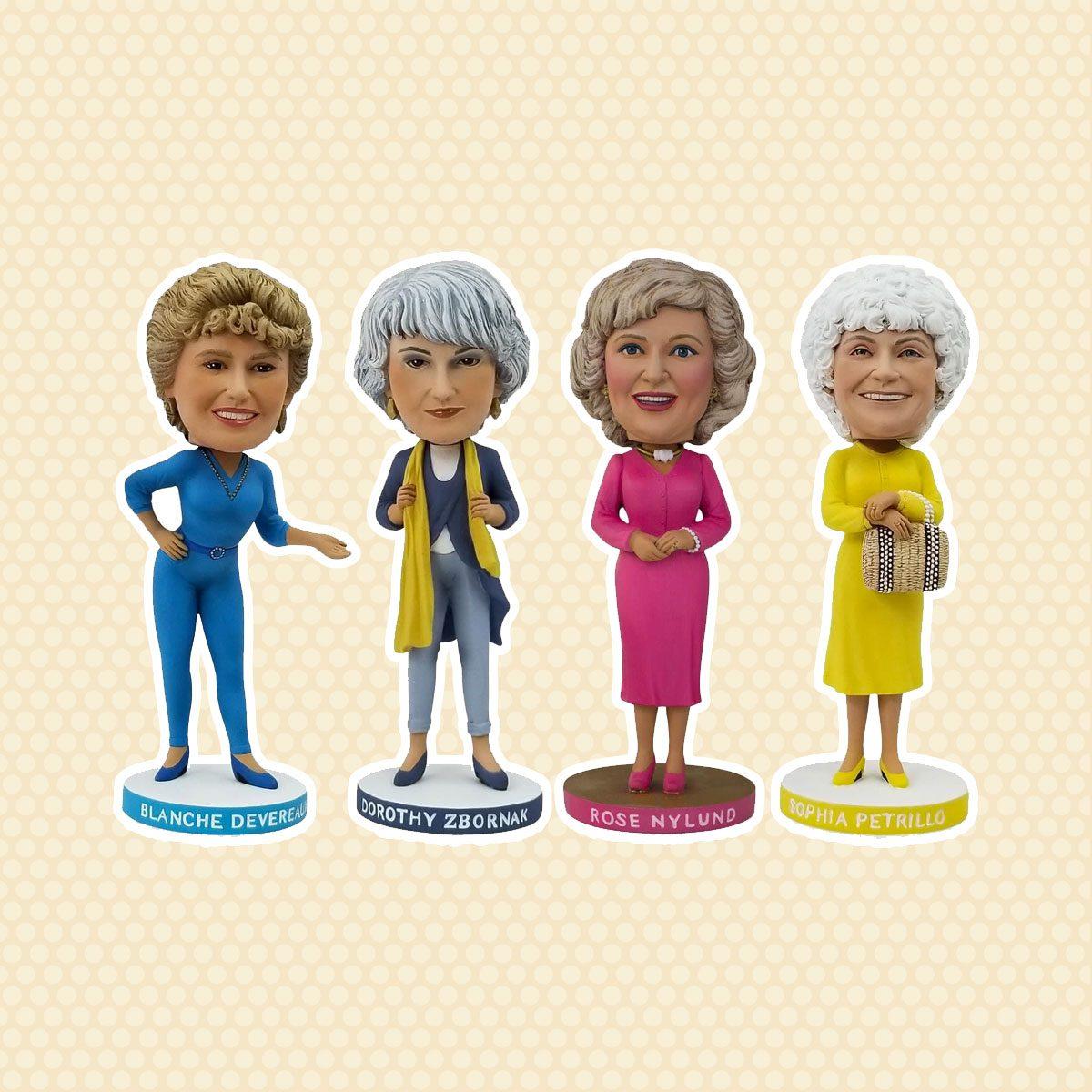 THE GOLDEN GIRLS 8 INCH RESIN BOBBLEHEAD SET OF 4 | ROSE | BLANCHE | SOPHIA | DOROTHY