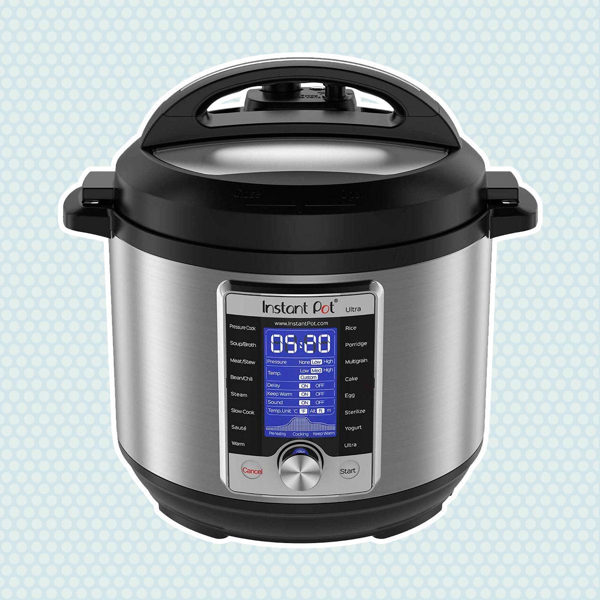 Instant Pot Ultra 10-in-1 Electric Pressure Cooker, Sterilizer, Slow Cooker, Rice Cooker, Steamer, Sauté, Yogurt Maker, Cake Maker, Egg Cooker, and Warmer, 6 Quart, 16 One-Touch Programs