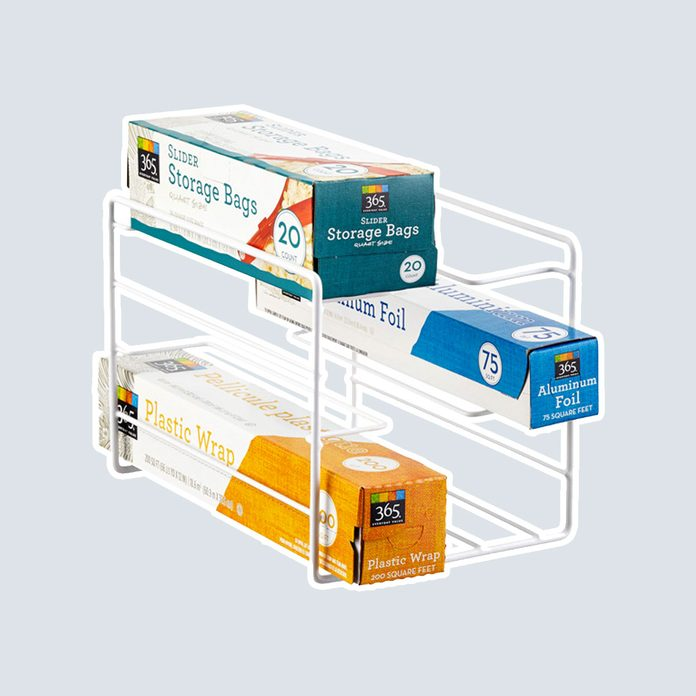 pantry storage Kitchen Foil And Wrap Organizer