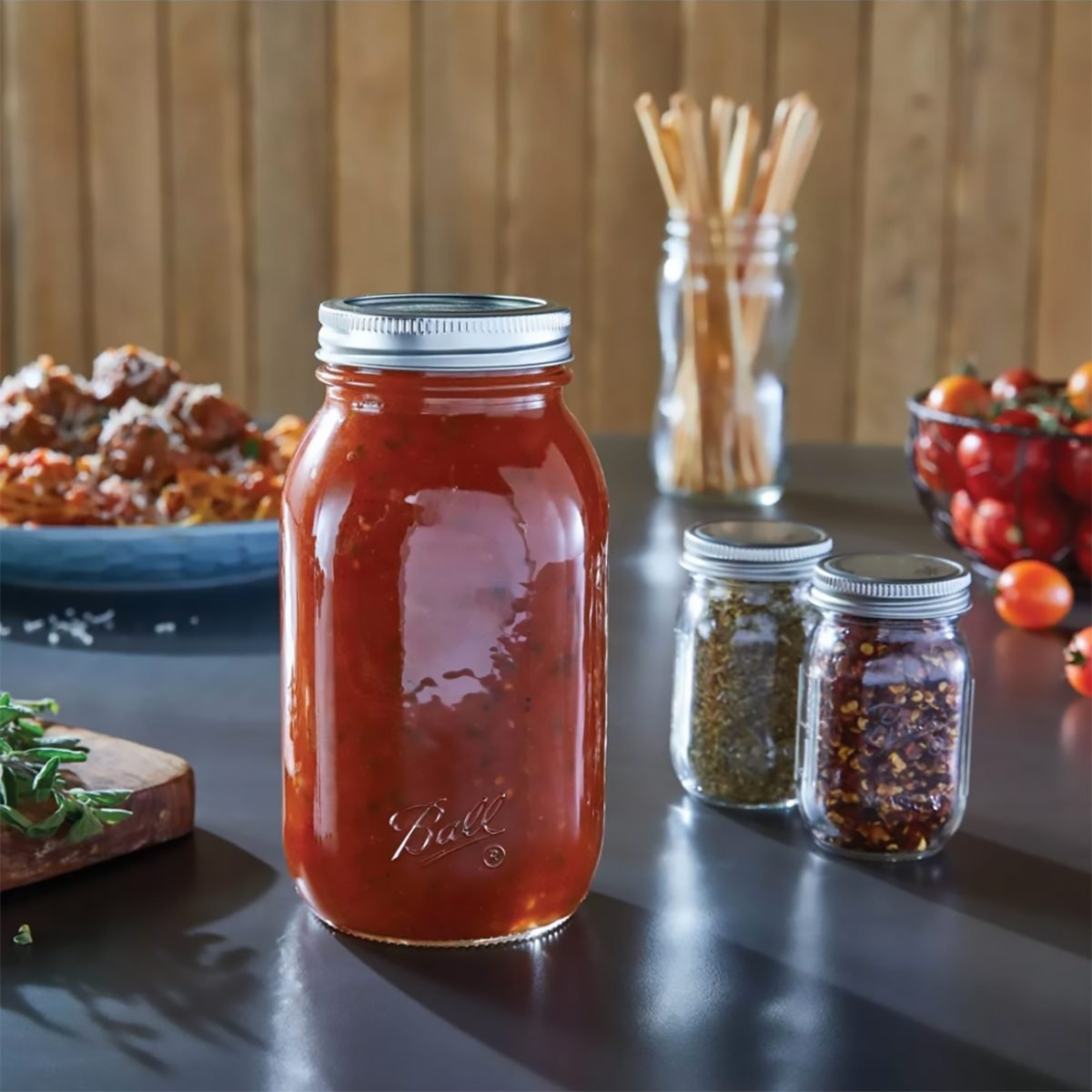 Ball 12ct 32oz Smooth-Sided Mason Jar with Lid and Band - Regular Mouth