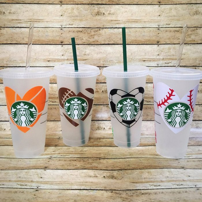 Personalized Sport Reusable Starbucks Cold Cup