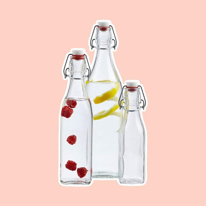 pantry storage Square Hermetic Glass Bottles