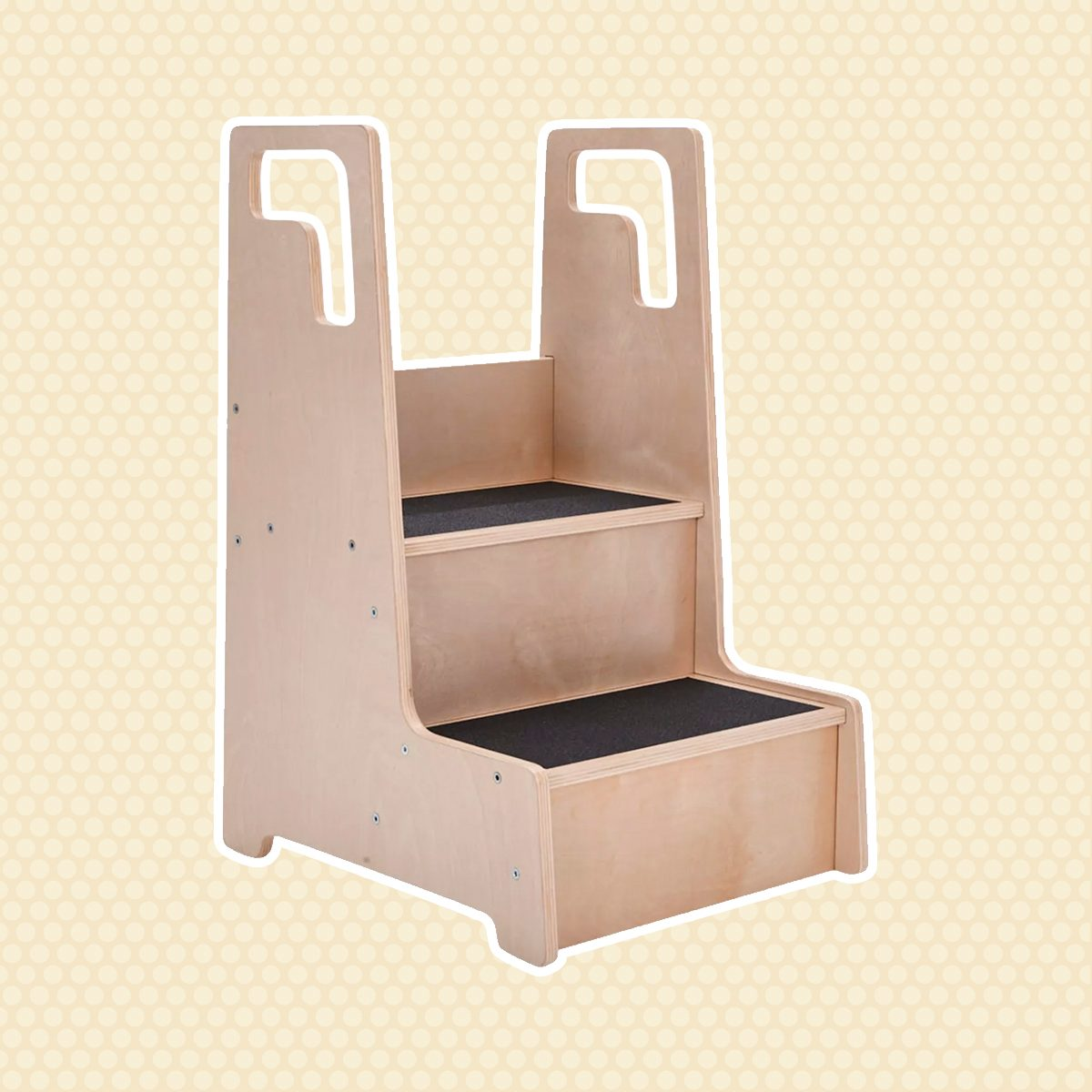 ECR4Kids Reach-Up Kids Step Stool with Handles & Rails