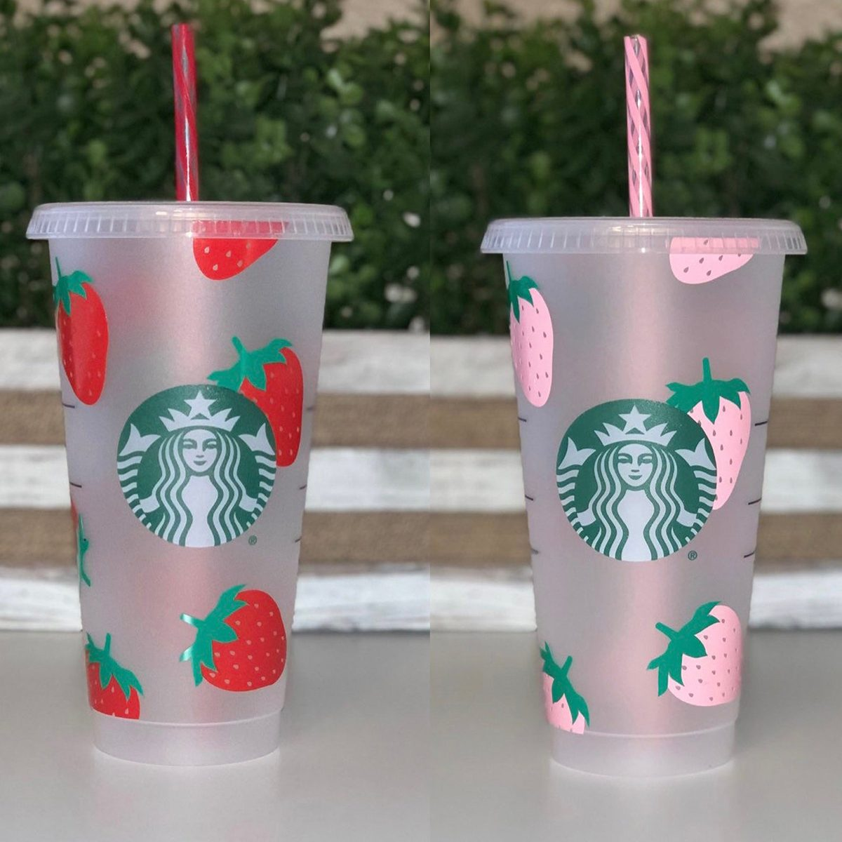 Strawberry Starbucks Cold Cup