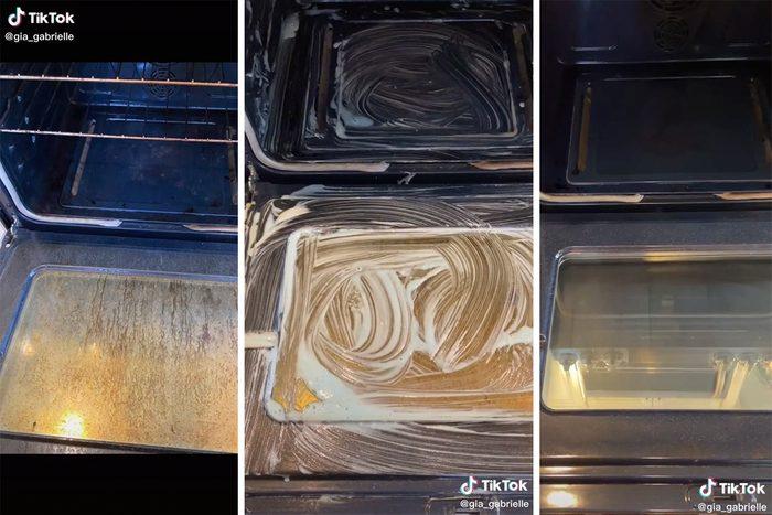TikTok oven cleaning hack