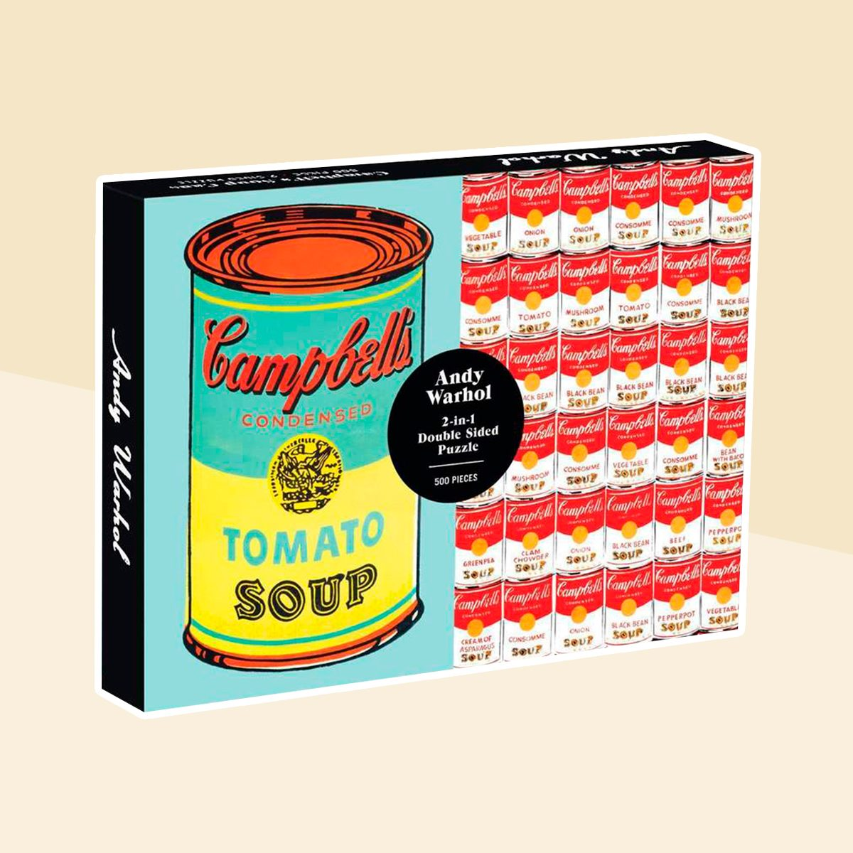 Andy Warhol Soup Can Double Sided 500 Piece Jigsaw Puzzle