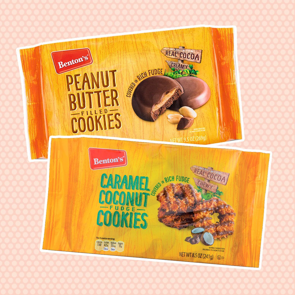Benton's peanut butter and caramel coconut fudge cookies