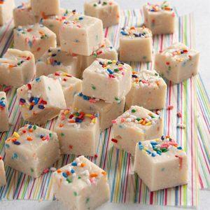 Homemade birthday cake fudge