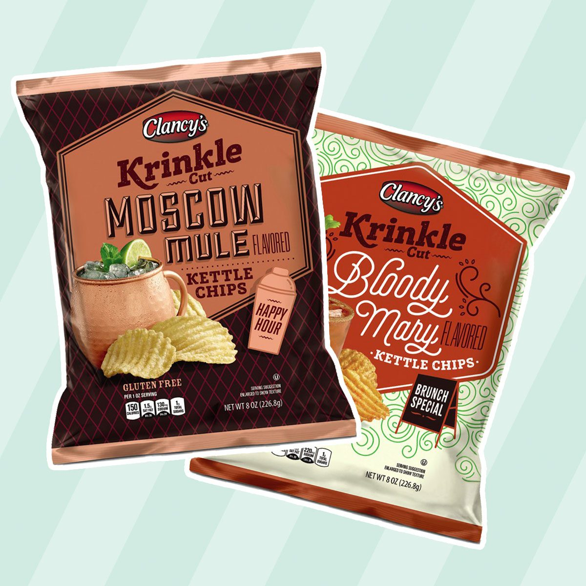 Clancy's Krinkle Cut Kettle Chips (Bloody Mary + Moscow Mule)