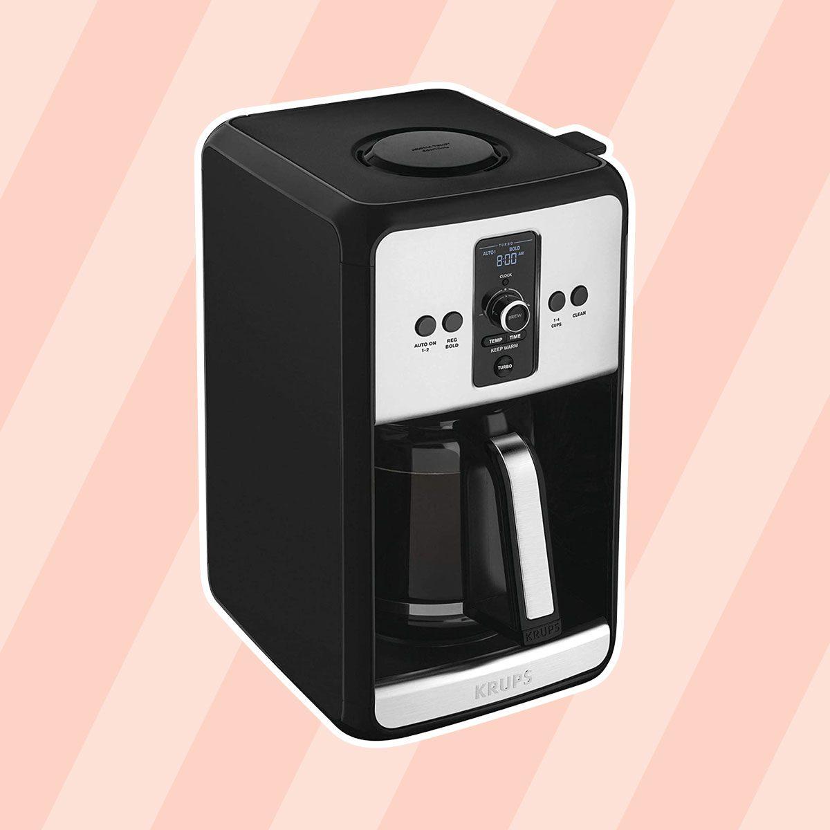 Krups Turbo EC411050 Savoy Black 12 Cup Programmable Coffee Maker