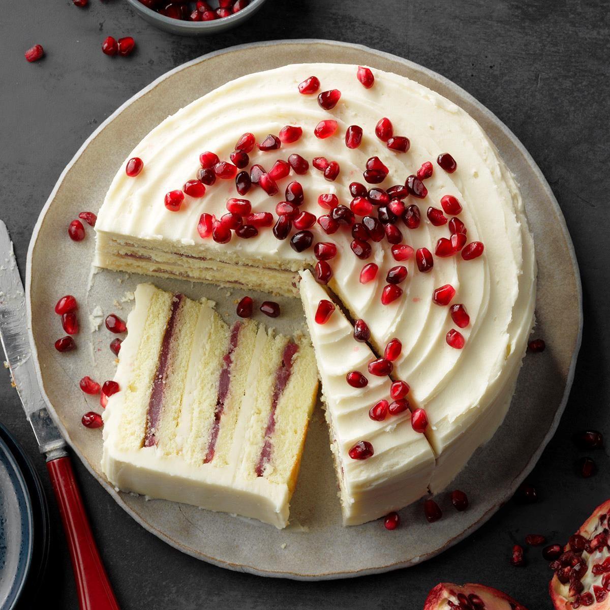Oklahoma: Spiced Pomegranate-Pear Cake
