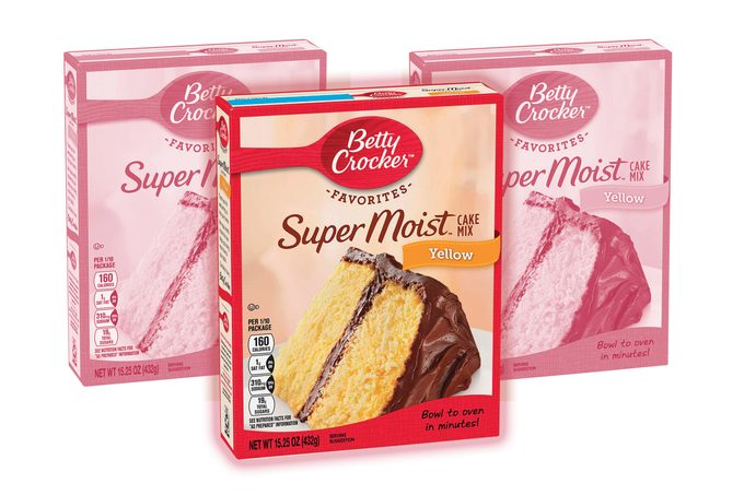 Betty Crocker Super Moist Yellow Cake Mix, 15.25 oz