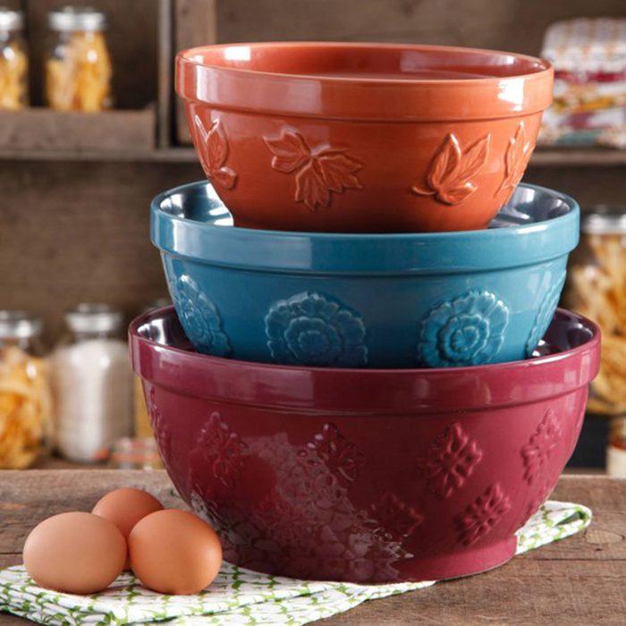 The Pioneer Woman Cornucopia Ceramic Mixing Bowl Set,
