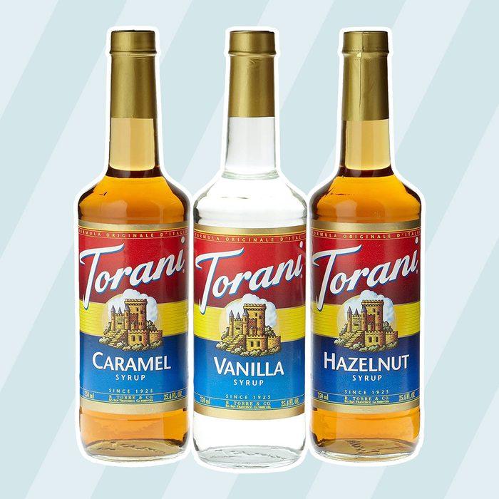 Torani Coffee Syrup Variety Pack - Vanilla, Caramel, Hazelnut, 3-Count, 25.4-Ounce Bottles
