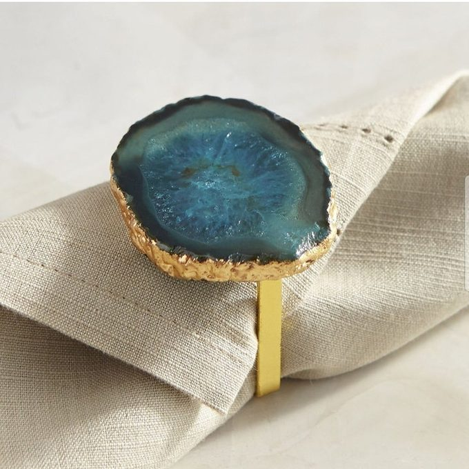 agate napkin rings, coloured agate napkin ring, gold agate napkin ring, wedding table decor