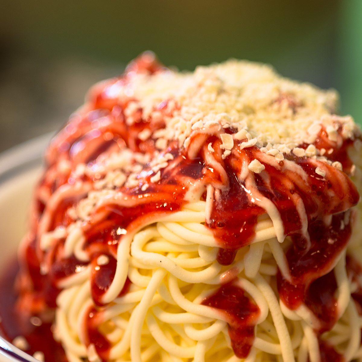 Close-Up Of Spaghettieis