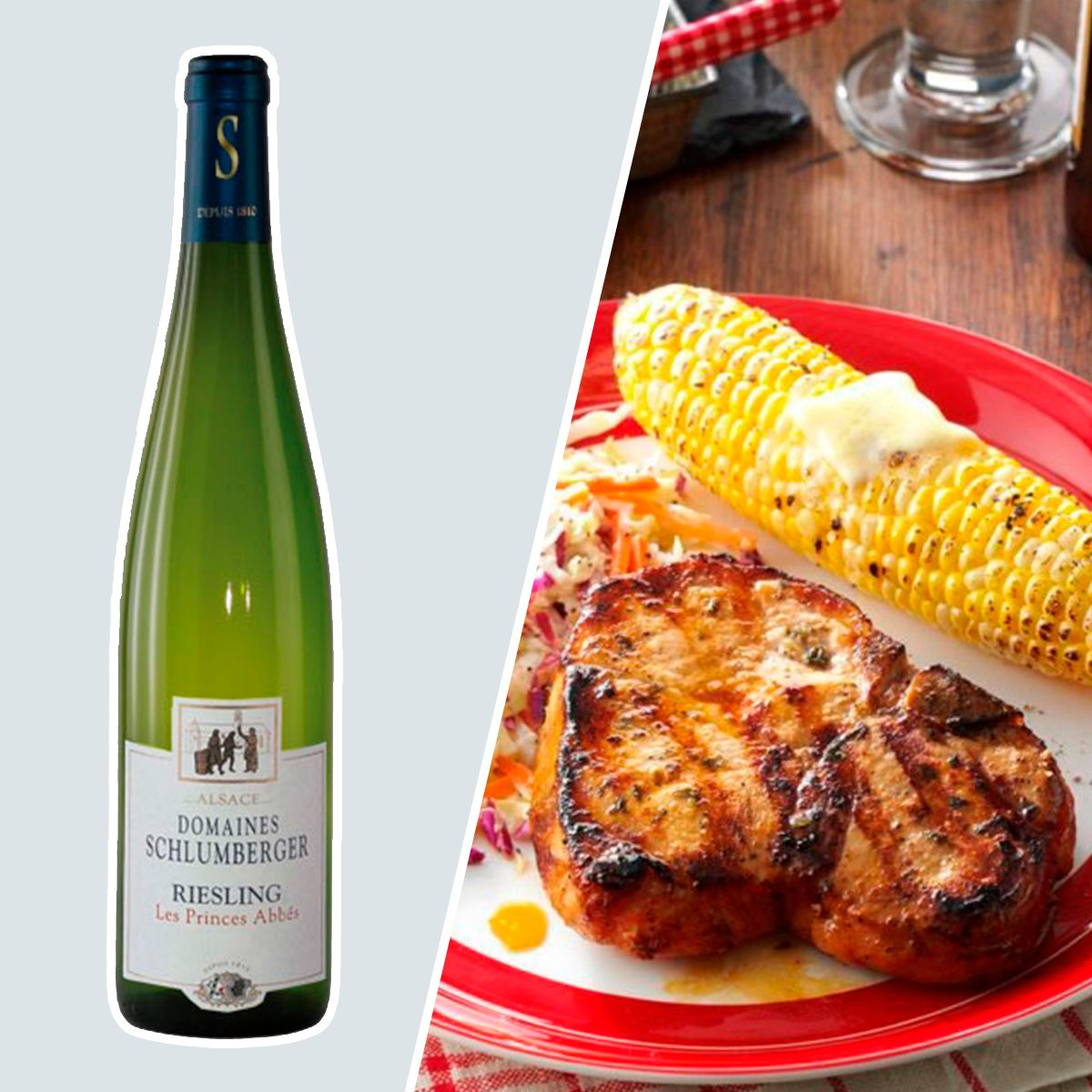 Riesling Les Princes Abbés and grilled pork