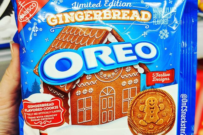 Gingerbread flavored oreos