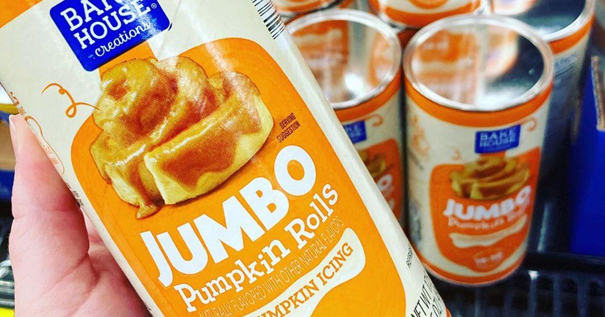 jumbo pumpkin rolls