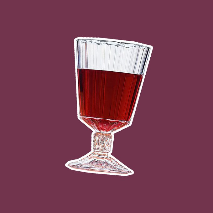 Red wine goblet