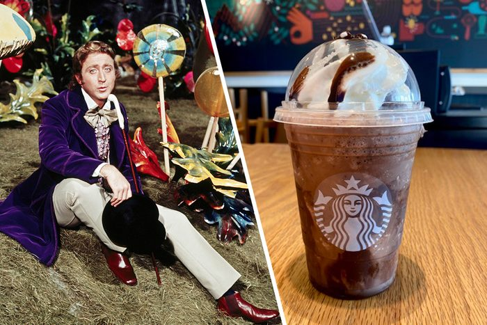 Actors Gene Wilder (1933 - 2016) as Willy Wonka in the film 'Willy Wonka & the Chocolate Factory', 1971. (Photo by Silver Screen Collection/Getty Images), WILLY WONKA FRAPPUCCINO FROM STARBUCKS