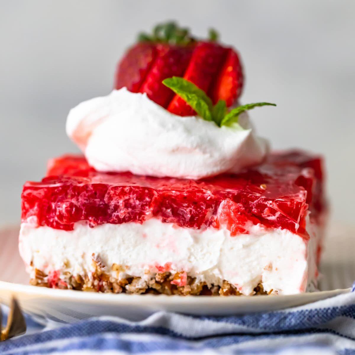 Sugar-Free Strawberry Pretzel Salad