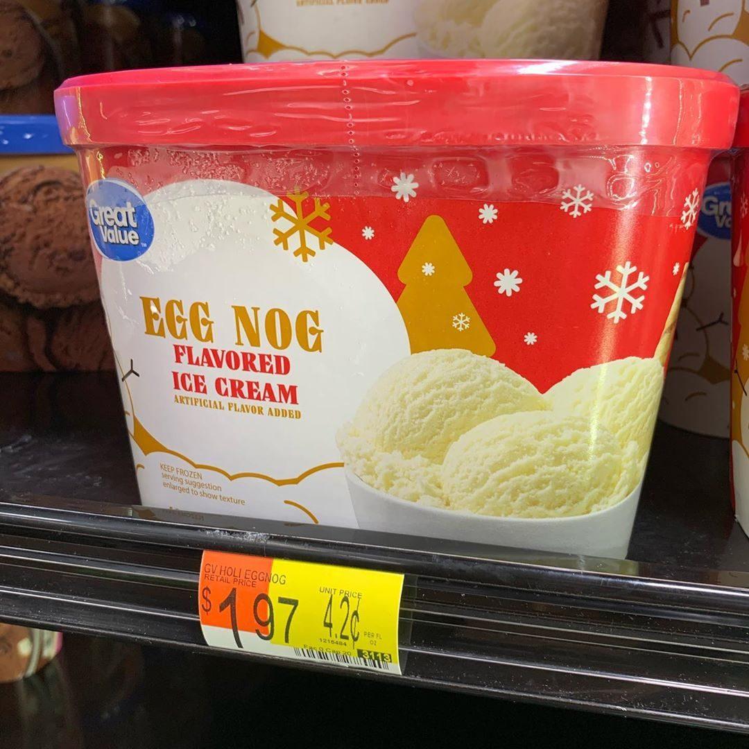 Walmart Egg Nog ice cream