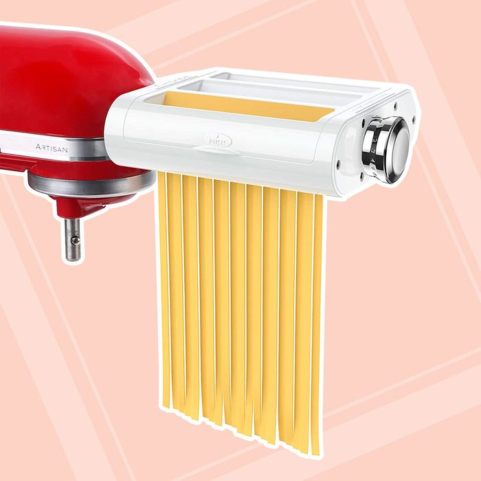 ANTREE Pasta Maker Attachment 3 in 1 Set for KitchenAid Stand Mixers Included Pasta Sheet Roller, Spaghetti Cutter, Fettuccine Cutter Maker Accessories and...