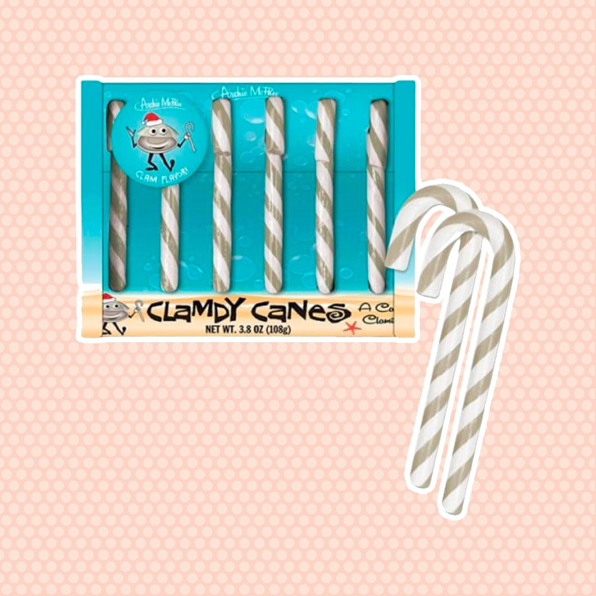 Clam Candy Canes: Box of 6