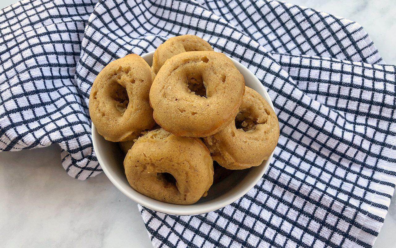 Baked Doughnuts using Makeshift Doughnut Pan