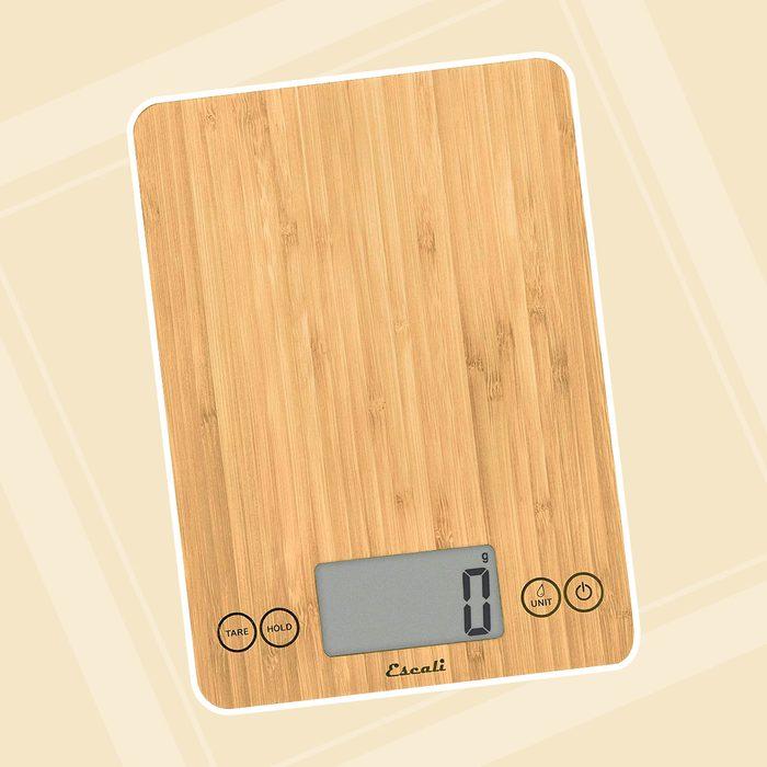 Escali Arti Kitchen Scale, 7 kg, Bamboo Finish