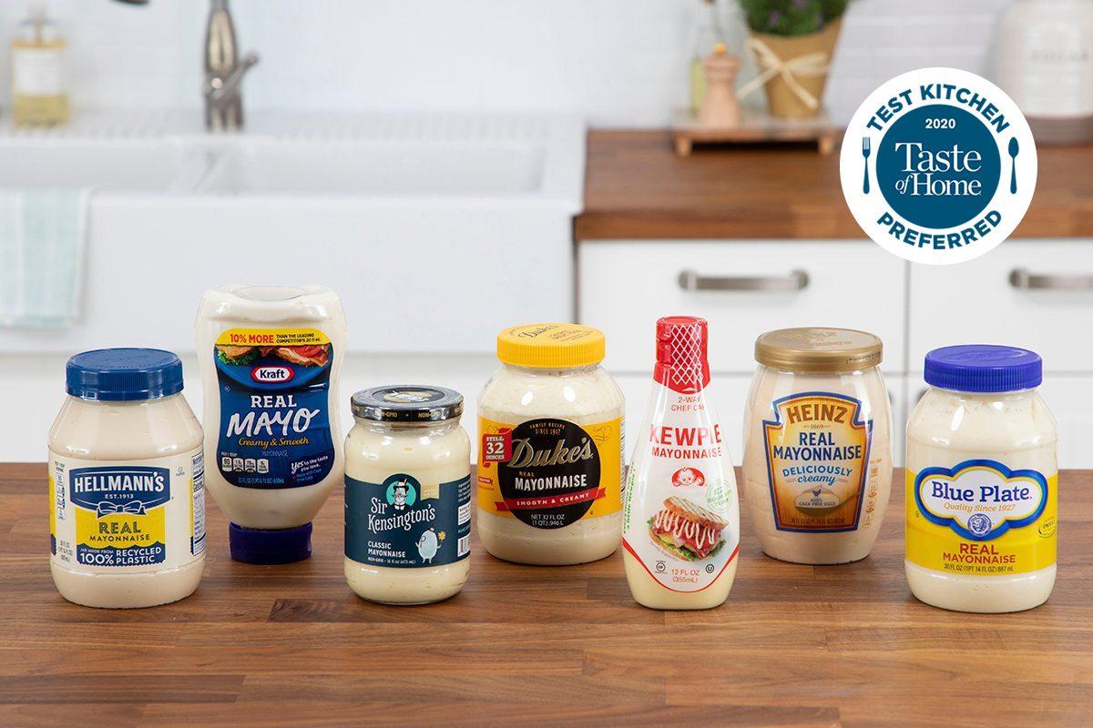 Mayonnaise taste test packaging shot in media kitchen; Test Kitchen Preferred; TKP WITH LOGO