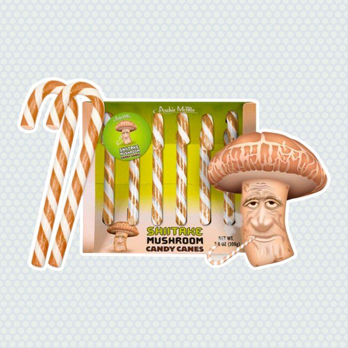 Shitake Mushroom Candy Canes