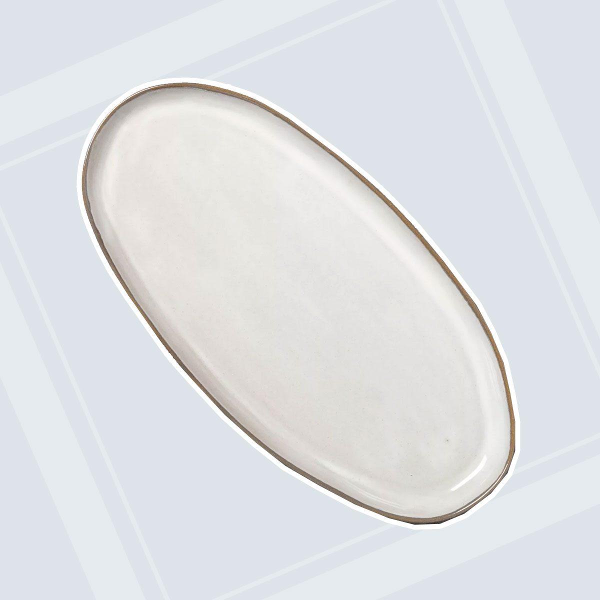 Stoneware Reactive Glaze Oval Serve Tray - Hearth & Hand™ with Magnolia