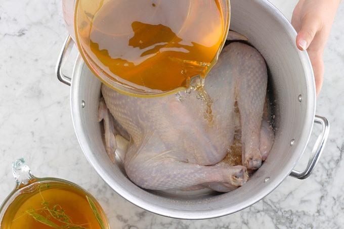 74640 Herb-Brined Turkey; 1 How-to Cook Turkey (brining/raw turkey)
