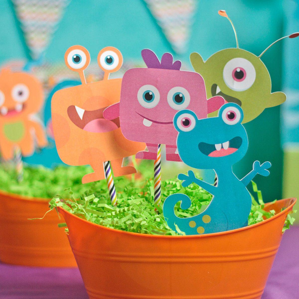 Little Monsters; Little Monsters Party; Monster Birthday Party; Little Monstersl Birthday Party;Little Monster; Little Monsters Centerpieces