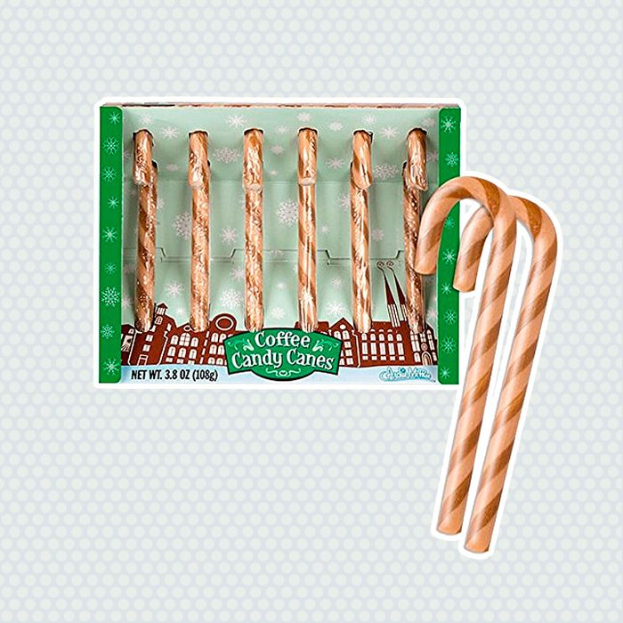 Archie McPhee Coffee Flavored Candy Canes, 6 Count
