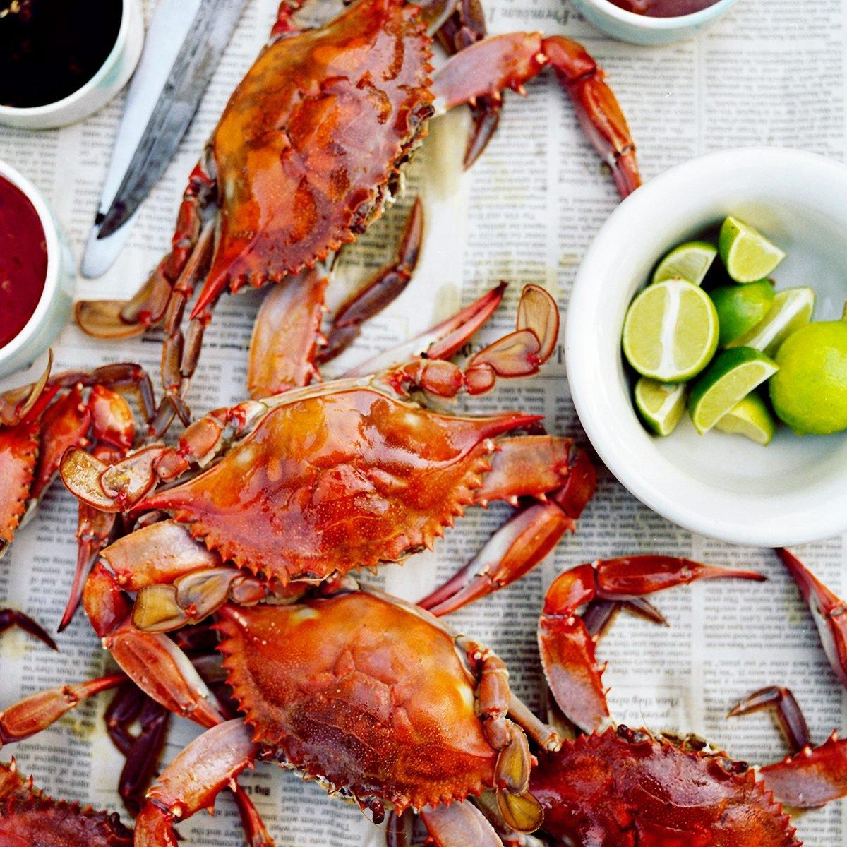 Crabs, Dinner, Meal, Summertime, pleasure