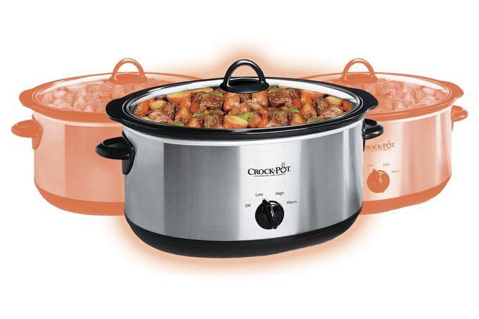 Crock-Pot 7-Quart Oval Manual Slow Cooker   Stainless Steel (SCV700-S-BR)