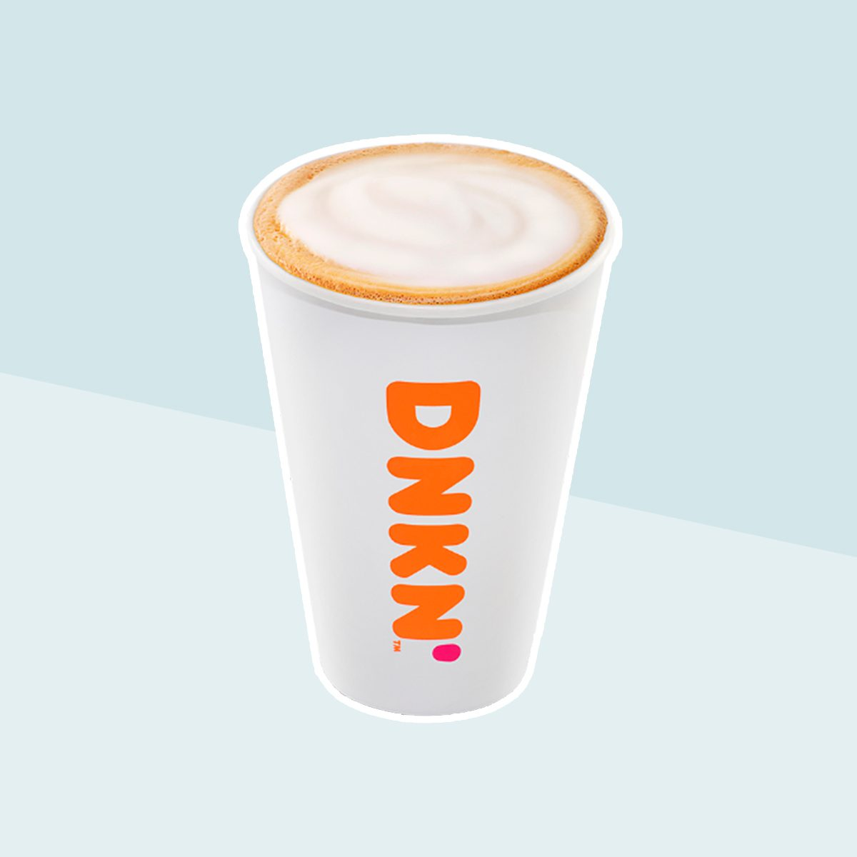 CAPPUCCINO with skim milk from Dunkin' Donuts