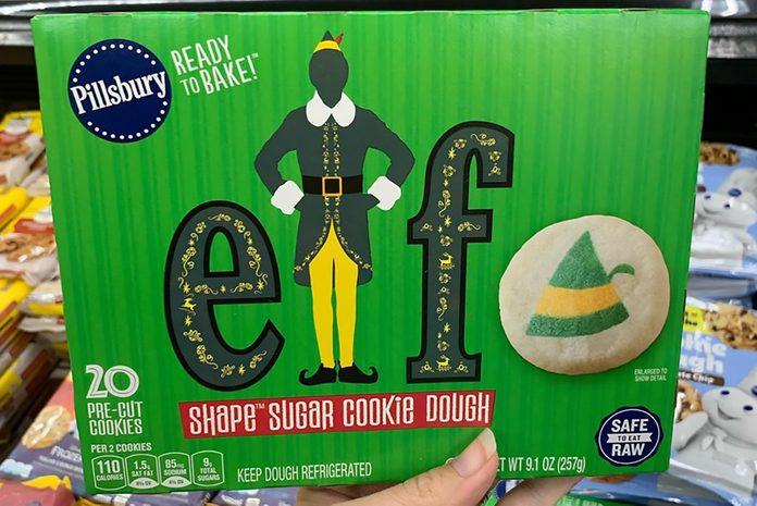 Elf themed sugar cookies by Pillsbury