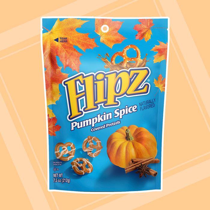 Flipz Pimpkin Spice Covered Pretzels