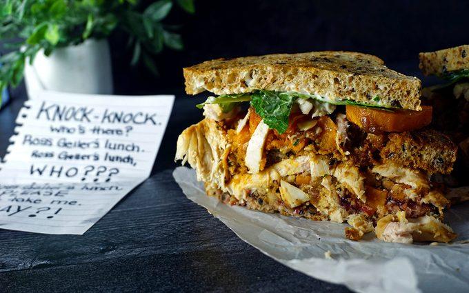 Ross Geller's Moist Maker Sandwich from FRIENDS with limerick