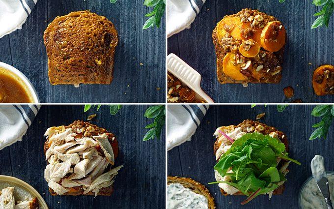 layers 5 through 8 of Ross Geller's Moist Maker sandwich from FRIENDS