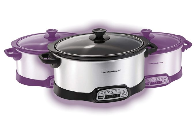 Hamilton Beach 7-Quart Programmable Slow Cooker With Flexible Easy Programming, Dishwasher-Safe Crock & Lid, Silver (33473)
