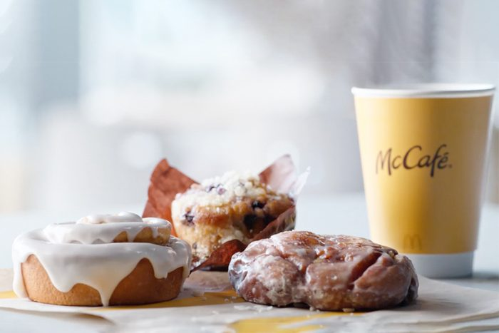 McDonald's new Apple Fritter, Blueberry Muffin or Cinnamon Roll McCafe items
